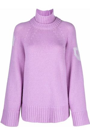 Patou Intarsia-knit roll-neck jumper