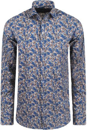Ferlucci Heren Overhemden - Heren overhemd calabria autunno slimfit stretch zwart