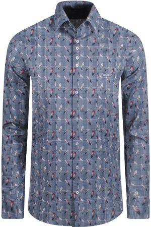 Ferlucci Heren Overhemden - Heren overhemd calabria due- slimfit stretch
