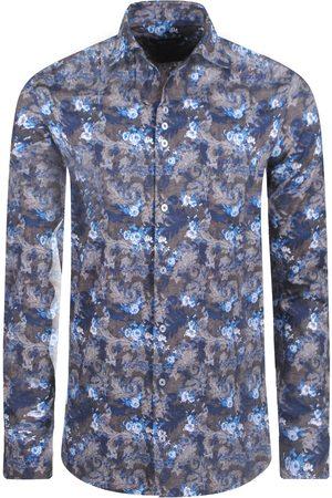 Ferlucci Heren Overhemden - Heren overhemd calabria bloemen slimfit