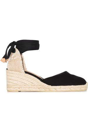 Castañer Dames Sleehakken - Carina 60 ankle-tie wedge sandals