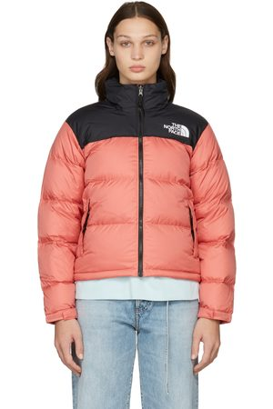 The North Face Pink & Black Down 1996 Retro Nuptse Puffer Jacket