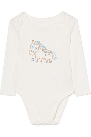 Stella McCartney Kids Embroidered-horses babygrow seven-pack