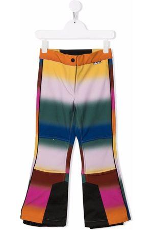 Molo Kids Meisjes Wijde broeken - Harlie rainbow-stripe flared trousers