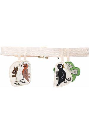 Mini Rodini Organic cotton animal-patch belt