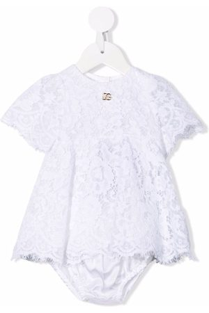 Dolce & Gabbana Kids Empire-line lace dress