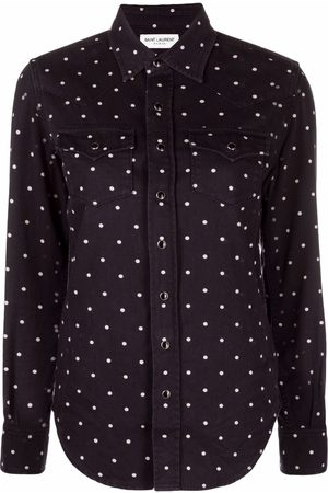 Saint Laurent Dames T-shirts - Polka-dot print shirt