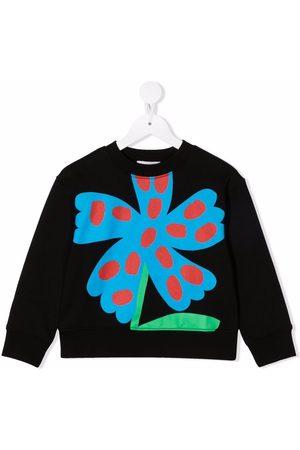 Stella McCartney Kids Fleece floral-stamp sweatshirt