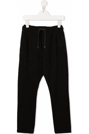 Paolo Pecora Kids Drawstring-waist cotton track trousers