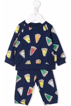 Stella McCartney Kids Trainingspakken - Pizza-print tracksuit set