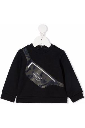 Emporio Armani Kids Bag-print crewneck sweatshirt