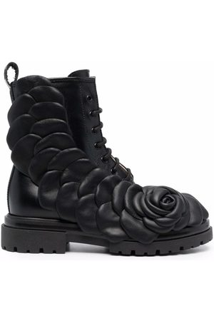 Florens Floral embossed lace-up boots