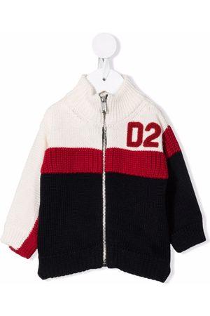 Dsquared2 Kids Colour-block zip-up cardigan