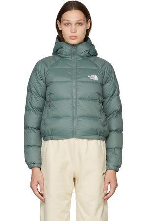 The North Face Dames Donsjassen - Green Down Hydrenalite Hooded Puffer Jacket