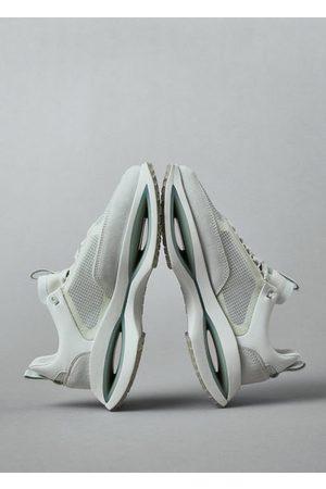 MANGO Leren sneakers met transparante panden