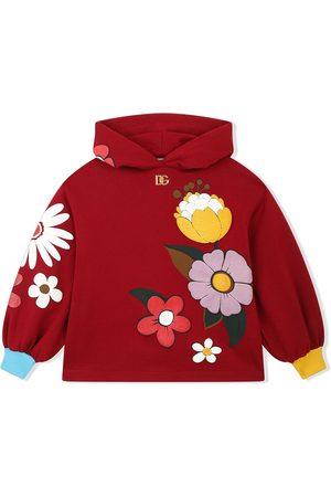 Dolce & Gabbana Kids Floral-print cotton hoodie