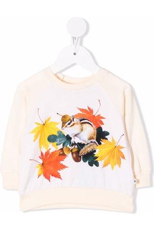Molo Squirrel-print organic cotton sweatshirt
