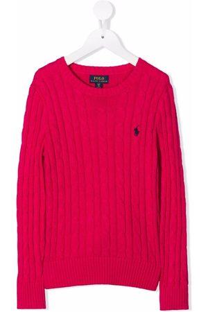 Ralph Lauren Kids Polo Pony cable-knit jumper
