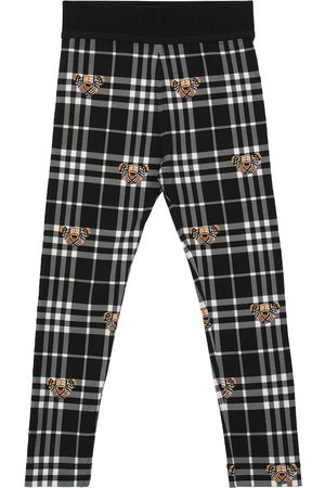Burberry Checked stretch-cotton leggings