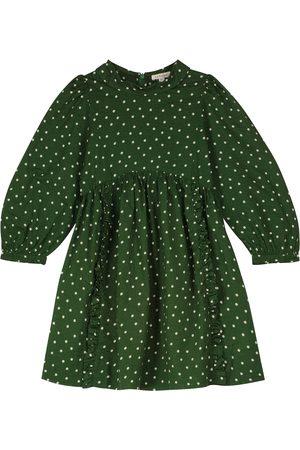 Caramel Earth printed cotton dress