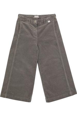 Il gufo Stretch-cotton wide-leg jeans