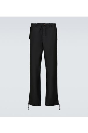Maison Margiela Wool-blend drawstring pants