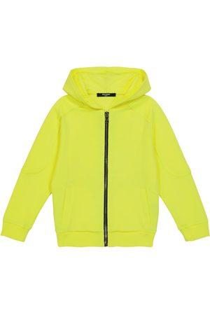 Balmain Cotton zip-up hoodie
