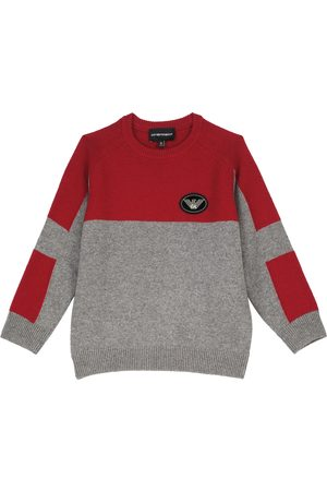 Emporio Armani Jongens Sweaters - Wool and cashmere-blend crewneck sweater