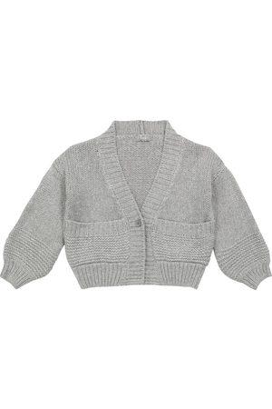 Il gufo Cropped wool-blend cardigan