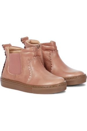 Petit Nord Scalloped leather Chelsea boots