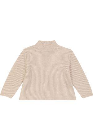 Caramel Elford merino-blend sweater