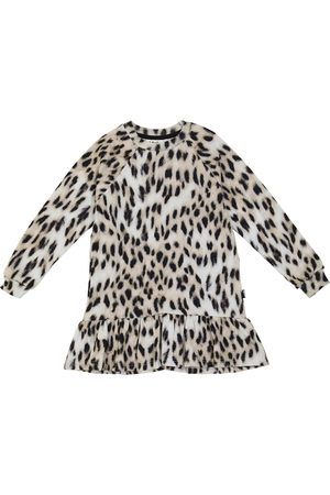 Molo Carlotta leopard-print sweatshirt dress