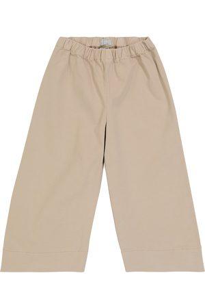 Il gufo Stretch-cotton wide-leg pants