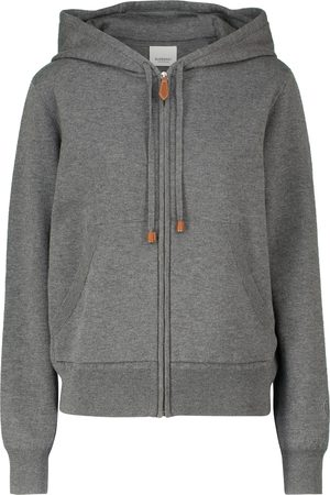 Burberry Cashmere-blend zipped hoodie