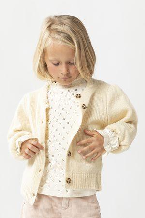 Sissy-Boy Meisjes Vesten - Off white vest met pofmouwen