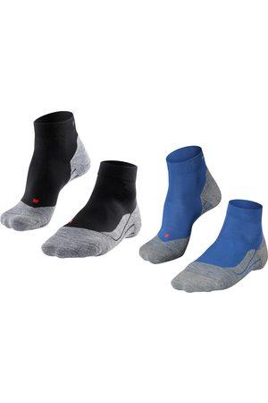 FALKE Heren Sokken - RU4 halfhoog 2-pack zwart & blauw