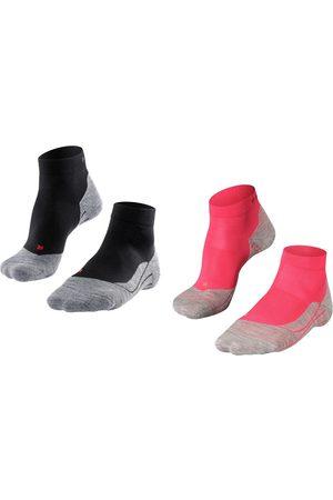 FALKE Dames Sokken - Dames RU4 halfhoog 2-pack zwart & roze