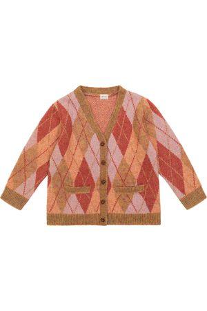 Morley Odds Grade argyle knit cardigan