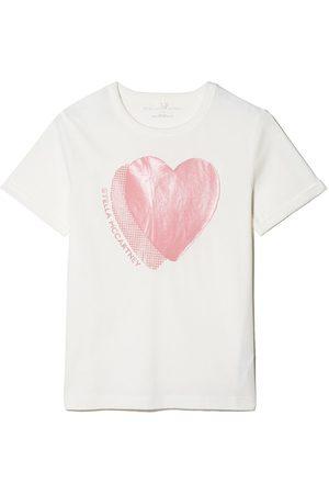 Stella McCartney Kids Heart-print cotton T-shirt