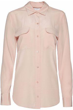 Equipment Dames T-shirts - Slim Signature silk shirt