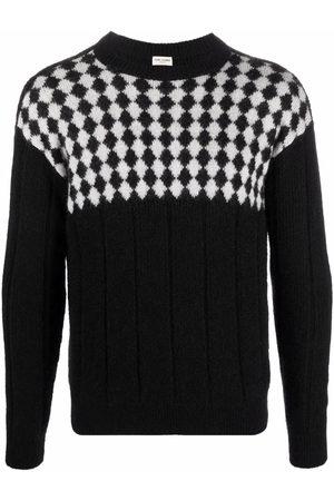 Saint Laurent Heren Gebreide truien - Checker knitted jumper