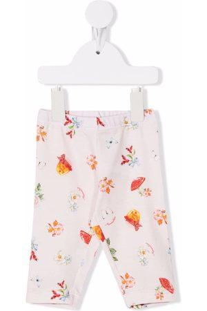 MONNALISA Baby Joggingbroeken - Floral-print track pants