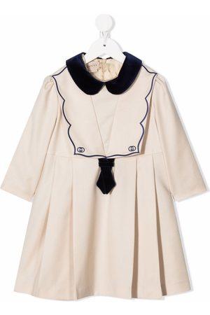 Gucci Kids Embroidered-logo sailor dress