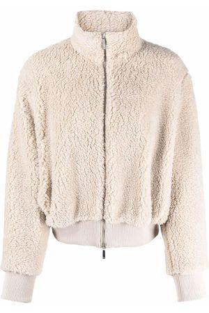 Emporio Armani Faux-shearling bomber jacket