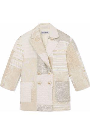 Dolce & Gabbana Kids Meisjes Blazers - Patchwork double-breasted blazer