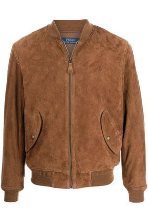 Polo Ralph Lauren Heren Leren jassen - Embroidered-logo suede bomber jacket