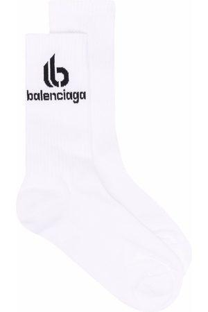 Balenciaga Logo-print ribbed socks