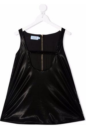 Mimisol Faux-leather mini dress