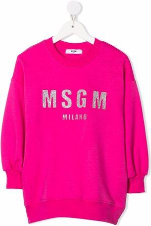 Msgm Meisjes Casual jurken - Logo-print sweat dress