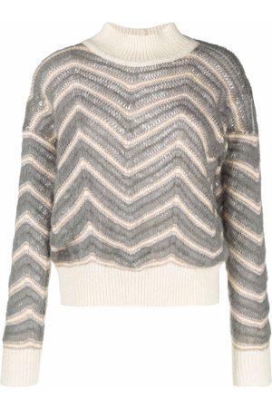 Fabiana Filippi Zigzag-knit jumper